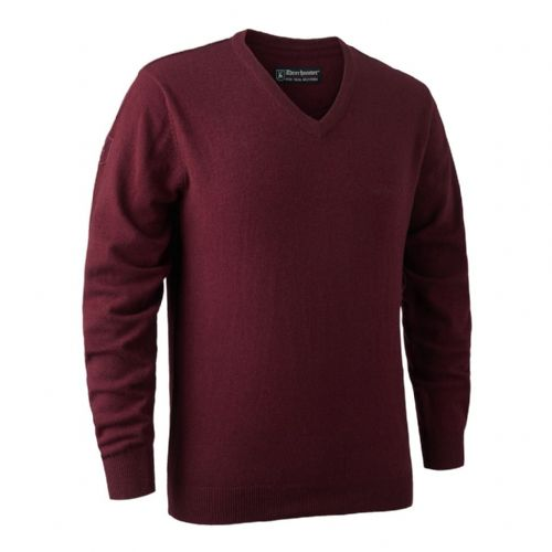 Deerhunter Brighton  V Neck Pullover: Red Mix